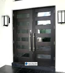glass entry door amazing front doors contemporary mahogany double wood doors with glass inserts and large pulls perfect combination of contemporary and