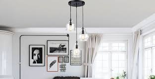 pendant and chandelier lighting. This Multi Jar-pendant Chandelier Is A Perfect Blend Of Industrial And Modern Design. The Showcases (3) Adjustable Height Pendants With Different Pendant Lighting