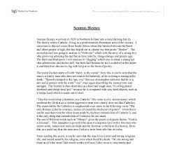 heaney essay seamus heaney essay