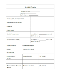 hotel bill hotel bill template oklmindsproutco accommodation invoice template