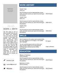 Word Templates For Resumes Resume Examples