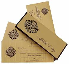 Invitations Beautiful Wedding Cards Indian In Dark Green And