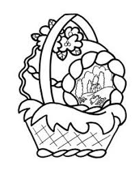 Small Picture Easter Basket Coloring Page Easter Pinterest Easter baskets
