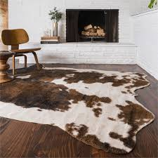 fake cowhide rug awesome rawhide beige and brown 5x66 free today of rugs home design
