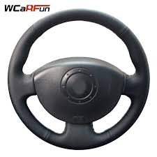 black leather vinyl steering wheel repair fix kit renault clio megane laa vehicle parts accessories interior styling