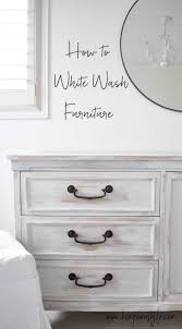 White washed furniture whitewash Oak How To White Wash Furniture Simple Easy Tutorial Pinterest First Project In The Guest Room Makeover Diy Ideas Pinterest