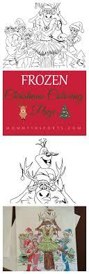 Frozen Christmas Coloring Page Kristen Hewitt