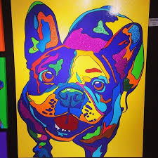 cool french bulldog oil painting mollythefrenchie frenchie
