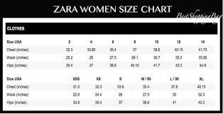 Zara Jeans Size Guide 2019