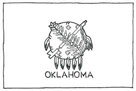 Oklahoma State Coloring Pages State Coloring Pages State Flag