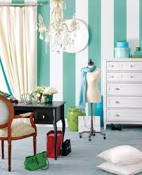 chic home office wide green stipes chic home office office