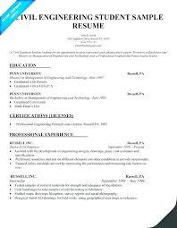 Undergraduate Resume Sample For Internship Engineering Internship