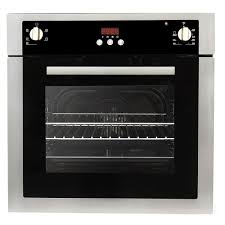 24 in 2 cu ft single electric wall oven with 5 functions and true european convection in stainless steel