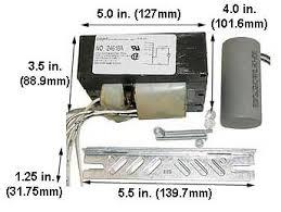 250 metal halide mercury vapor ballasts 5 tap voltage kit