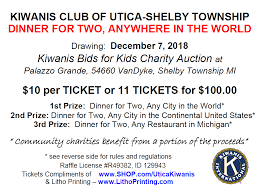 Reverse Raffle Rules Utica Shelby Township Kiwanis International