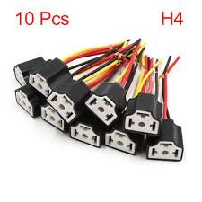 10 pcs 3 wires h4 fog light extension wire harness socket connector Auto Wire Harness 10 pcs 3 wires h4 fog light extension wire harness socket connector for car
