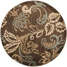 surya riley round indoor nature area rug common actual 8 ft