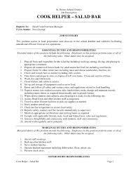 Sous Chef Job Description Resume Resume Template