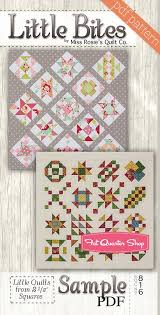 Sample Little Bites Downloadable PDF Quilt Pattern Miss Rosie's ... & Hover to zoom Adamdwight.com
