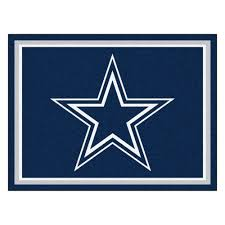 excellent dallas cowboys rugs 1 4 plush area rug nylon 8 x