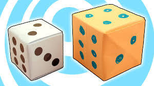 Origami dice cube easy video instructions youtube jeuxipadfo Images