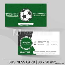 Soccer Business Card Business Card Template Football Training Personal Trainer