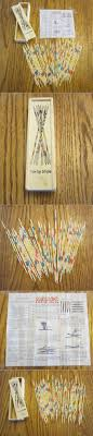 Game With Wooden Sticks Details about 100 SET OF NEW WOOD PICK UP STICKS WITH WOODEN BOX 65