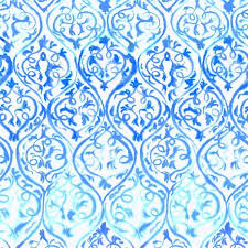 Small Picture Designers Guild Arabesque Wallpaper in Cobalt