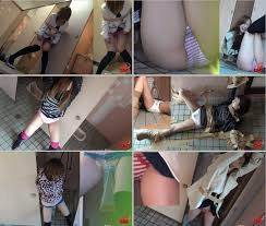 Girl tied forced pee
