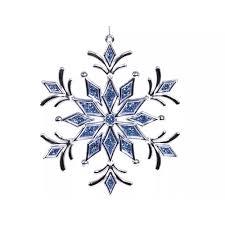 Новогоднее <b>украшение Crystal Deco</b> «<b>Снежинка</b> с голубым ...