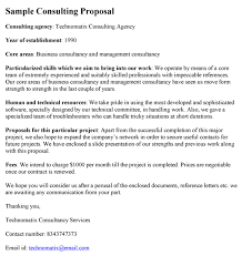 Technical Proposal Templates Consulting Proposal Template