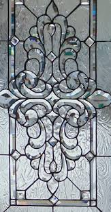 Edging Glass Design Stained Glass Window Hanging 40 X 23 1 2 With Brass Border