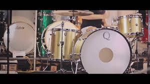 q drum co brass drum kit w maple re rings