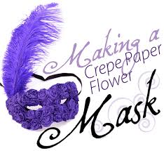 Mask Decorating Ideas How to decorate a paper mache mask with crepe paper flowers 35