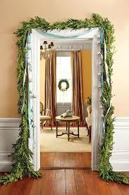 how to hang garland around front doorGarland Door  Lighted Garland Around Front Door Exterior Black