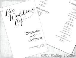 Printable Wedding Program Templates Wedding Program Template Free Wedding Program Template Word Free