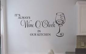 wine o clock wall art decal kitchen wall decals