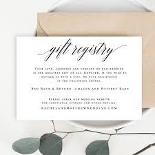 Wedding Enclosure Card Template Gift Registry Card Template Wedding Enclosure Card Template Etsy