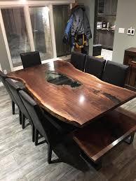 Redwood Slab Dining Table Live Edge Table Single Slab Table Mappa Table Burl Table Wood