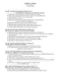 100 Resume Format For Advertising Agency Sample Resume Oil