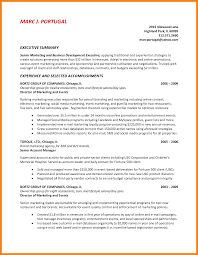 8 Sample Executive Summary Personel Profile