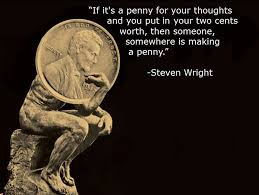 Steven Wright Quotes Extraordinary If It's A Penny For Your Thoughts Steven Wright [48 X 48