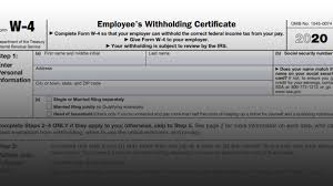 Irs Issues 2020 Form W 4