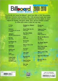 Billboard Sheet Music Hits 2000 2010 Piano Vocal Guitar Paperback