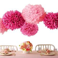 Party Decorations Tissue Paper Balls Amazon Bekith 100 Pack Tissue Paper Flowers Pom Poms Wedding 44