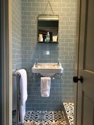 Fired Earth Kitchen Tiles Pale Duck Egg Blue Brick Tiles With Crisp White And Light Timber