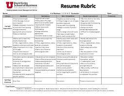 resume scoring rubric