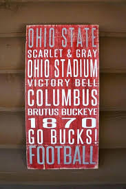 ohio state wall decorations state wall decor state university distressed decorative sign vintage state wall decor