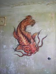 традиционная татуировка для стены японский карп
