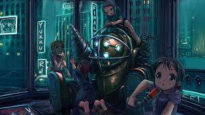 i found a freaking adorable bioshock wallpaper but sadly i don t know who to credit for making it